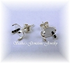 OVAL CABTITE EARRING STUDS - SERIES 403-050
